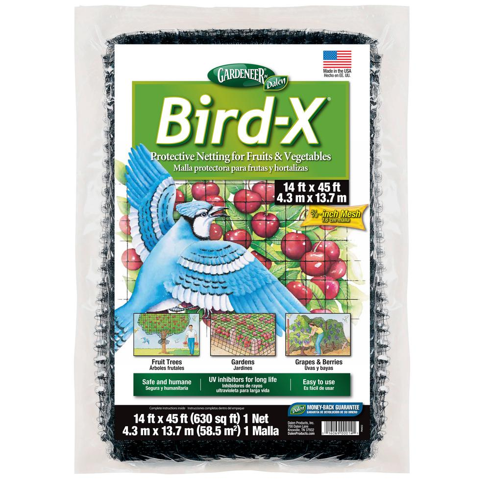 Bird-X 14 ft. x 45 ft. Dalen Products Netting and 5/8 in. Polypropylene Mesh