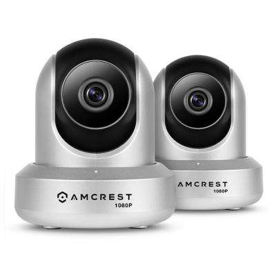 ProHD 1080p Wi-Fi 2-Way Audio Wireless IP Security Camera with Pan/Tilt 1920TVL IP2M-841, Silver (2-Pack)