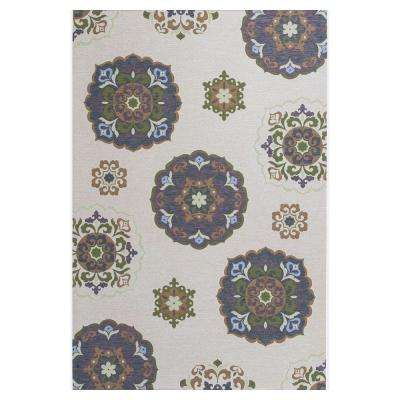 Starlight Beige/Brown 7 ft. x 10 ft. All-Weather Patio Area Rug