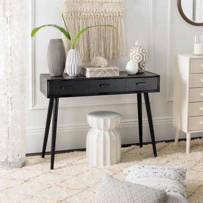 Albus Black Console Table 3-Drawer