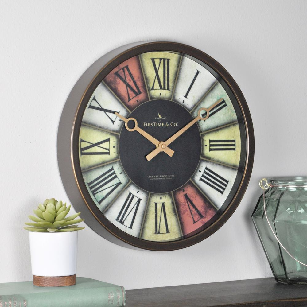 La crosse technology 12 in round atomic analog wall clock in round prismatic wall clock amipublicfo Gallery