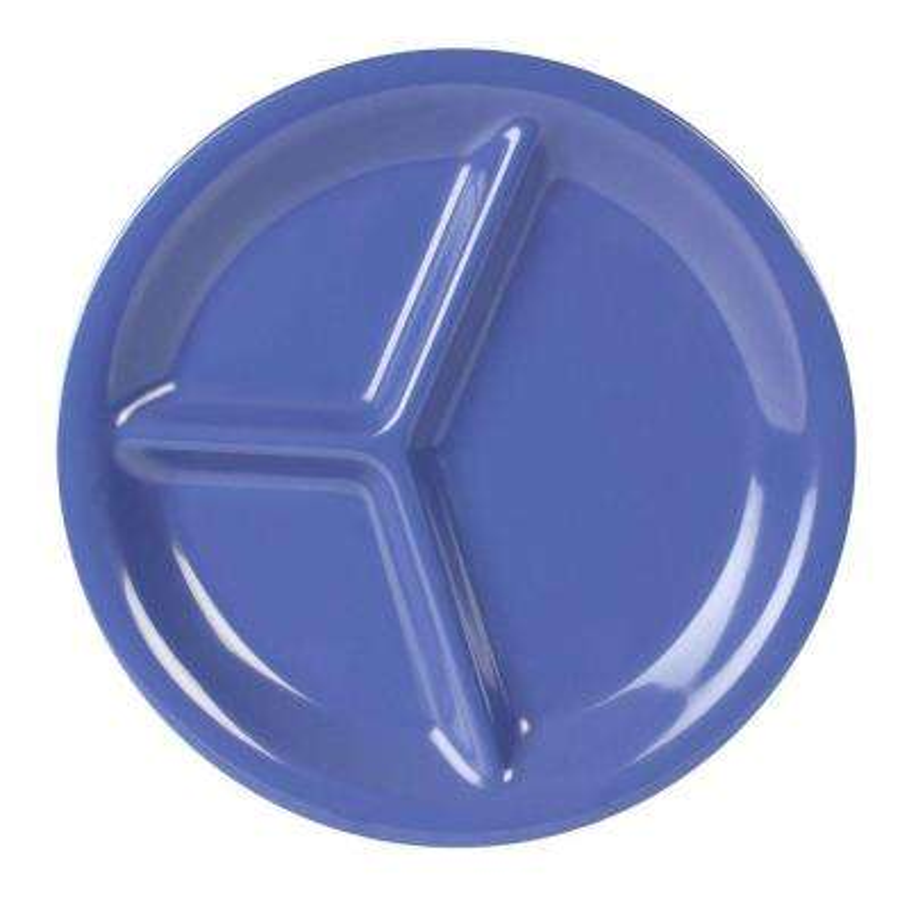 Coleur 10-1/4 in. 3-Compartment Plate in Purple (12-Piece)