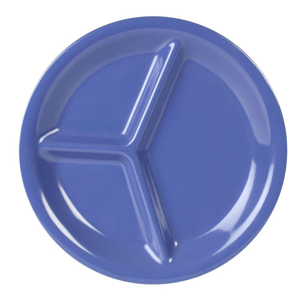 Restaurant Essentials Coleur 10-1/4 in. 3-Compartment Plate in Purple (12-Piece)