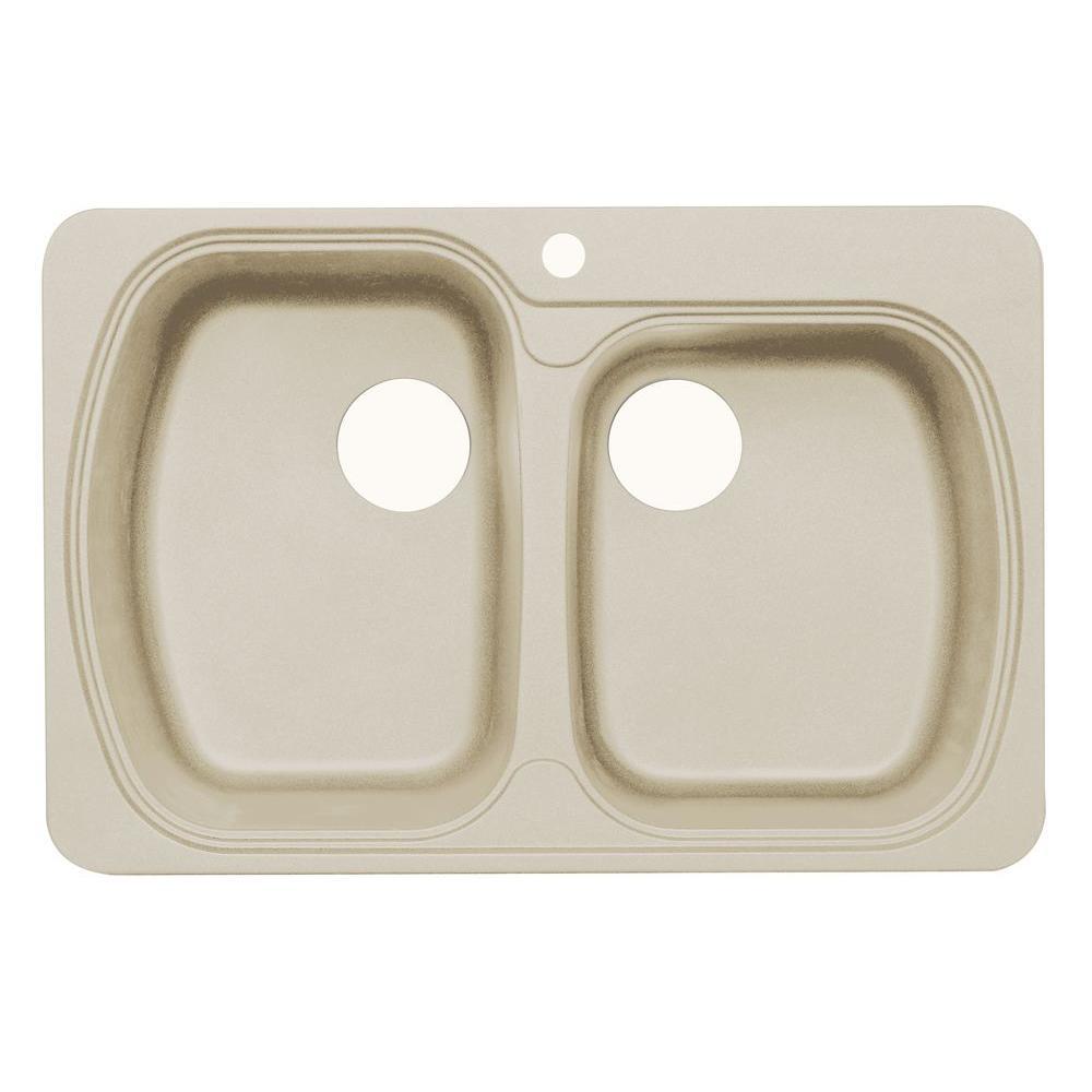 Astracast Kitchen Sinks Astracast premium offset dual mount granite 33 in 1 hole double astracast premium offset dual mount granite 33 in 1 hole double bowl kitchen sink workwithnaturefo