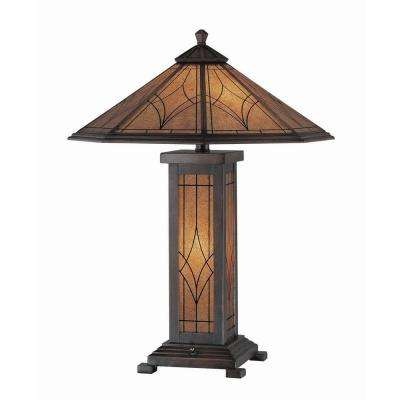 Table lamps lamps the home depot bronze table lamp with amber glass shade greentooth Images