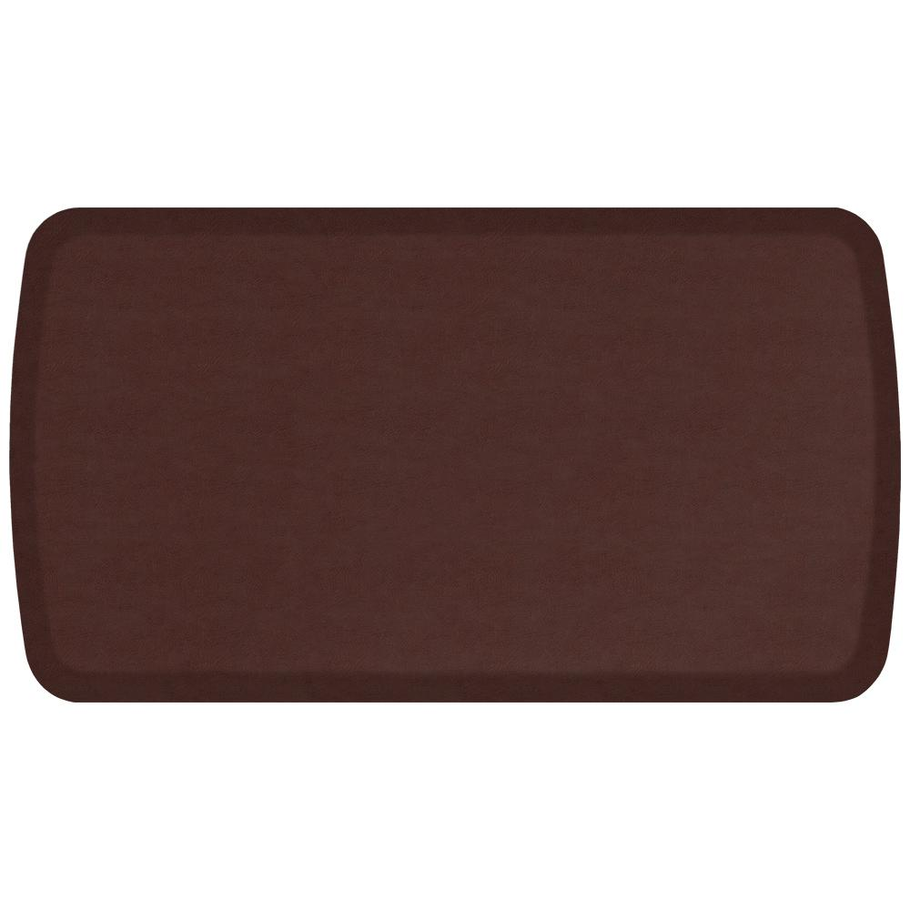 GelPro Elite Vintage Leather Sherry 20 In. X 36 In. Comfort Kitchen Mat