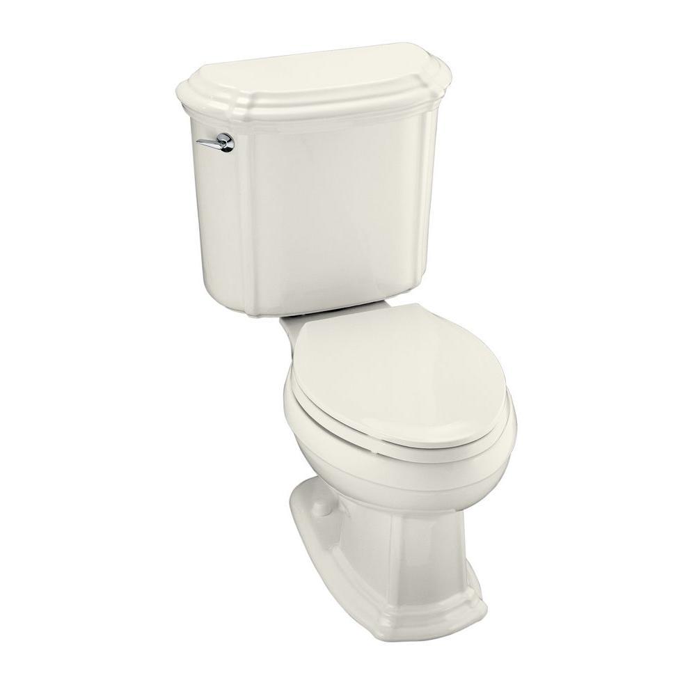 KOHLER Portrait 2-piece 1.6 GPF Single Flush Elongated Toilet in Biscuit