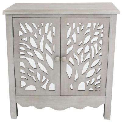 Grey Willow Tree Cabinet with Two Doors