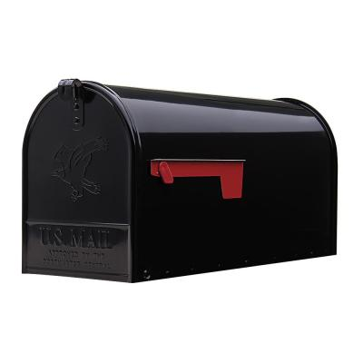 Elite Large, Steel, Post Mount Mailbox, Black