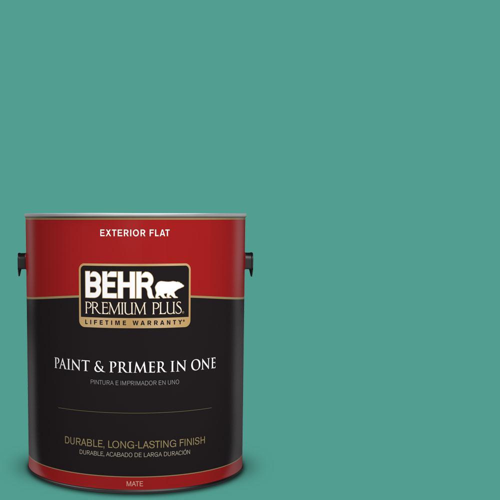 1 gal. #HDC-WR15-9 Aqua Revival Flat Exterior Paint