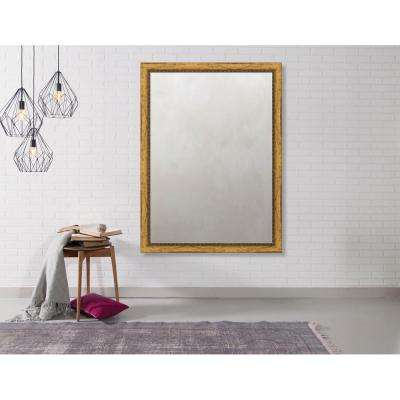 Pinnacle 34.375 in. x 46.375 in. Urban Bead Framed Antique Mirror