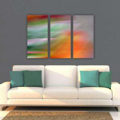 "nexxt 15 in. x 31.5 in. ""Fireworks"" Abstract 3-Panel Canvas Wall Art Set"