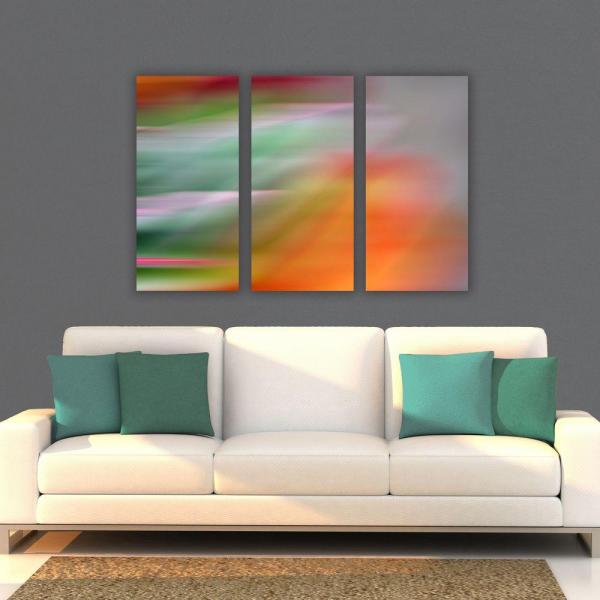 Nexxt 15 In X 31 5 In Fireworks Abstract 3 Panel Canvas Wall Art Set