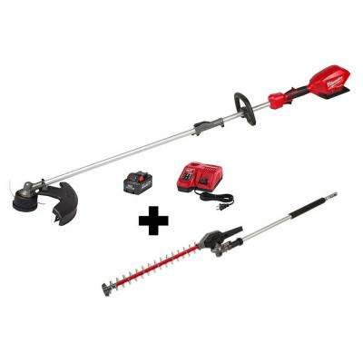 M18 FUEL 18-Volt Lithium-Ion Brushless Cordless String Trimmer Kit with M18 FUEL Hedge Trimmer Attachment
