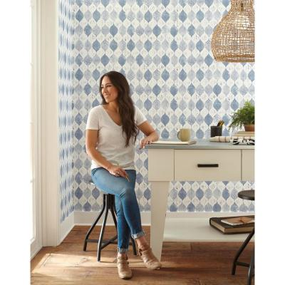 Woodblock Print Paper Strippable Wallpaper (Covers 56 sq. ft.)