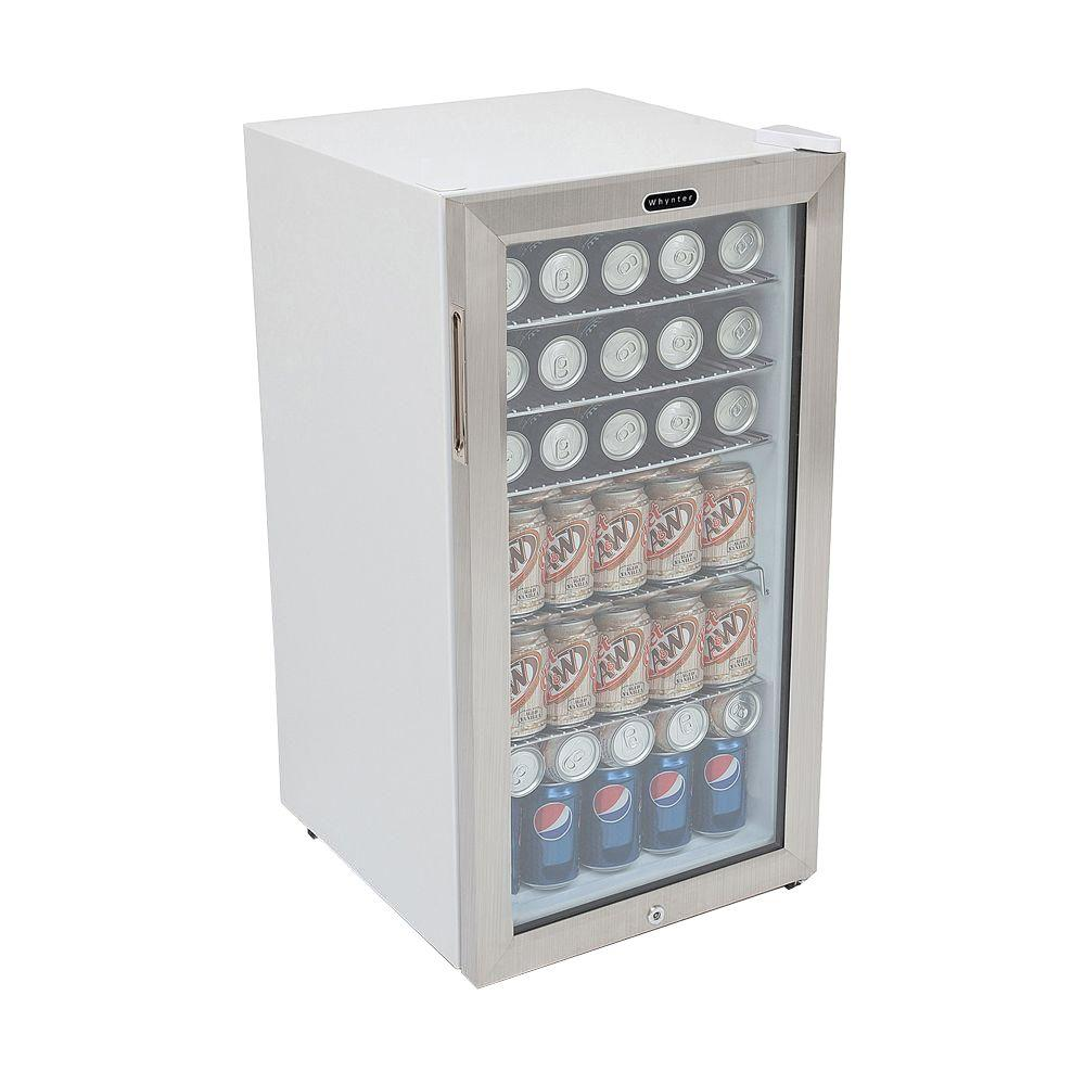 Whynter 17 In 120 12 Oz Can Cooler With Lock Br 128ws