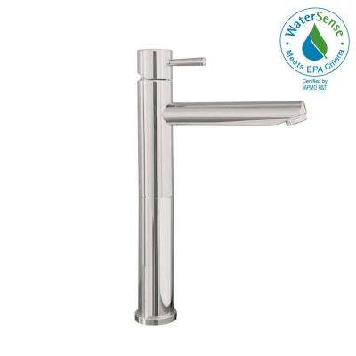 Serin Single Hole Single-Handle High-Arc Vessel Bathroom Faucet in Brushed Nickel