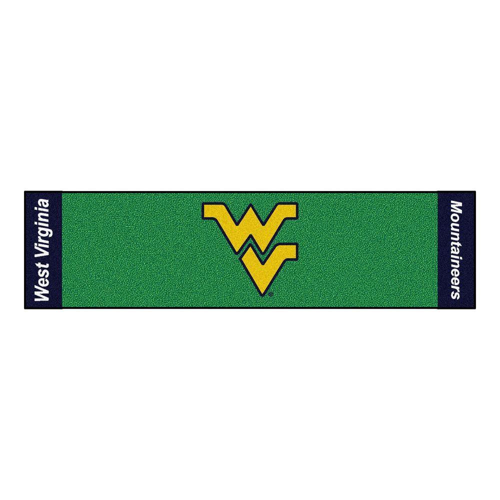NCAA West Virginia University 1 ft. 6 in. x 6 ft. Indoor 1-Hole Golf Practice Putting Green