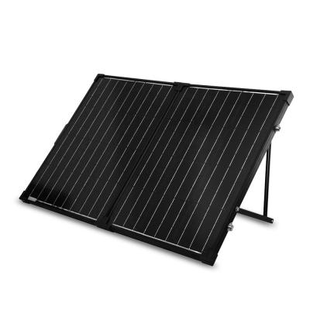 100-Watt 12-Volt Monocrystalline Foldable Suitcase Off-Grid Solar Power Kit with Voyager