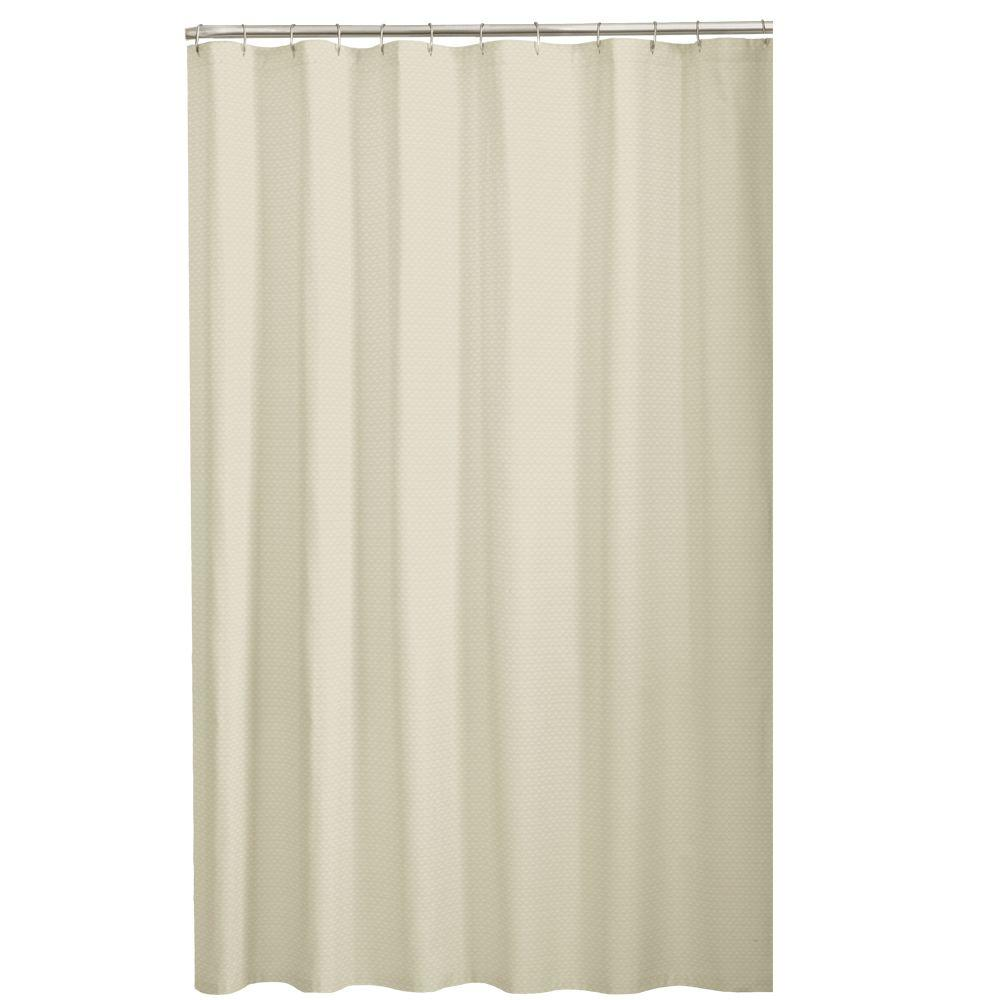 Fabric Shower Curtain In Taupe