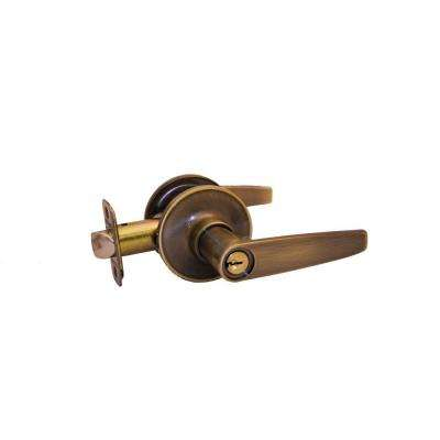 Olympic Antique Brass Entry Lever