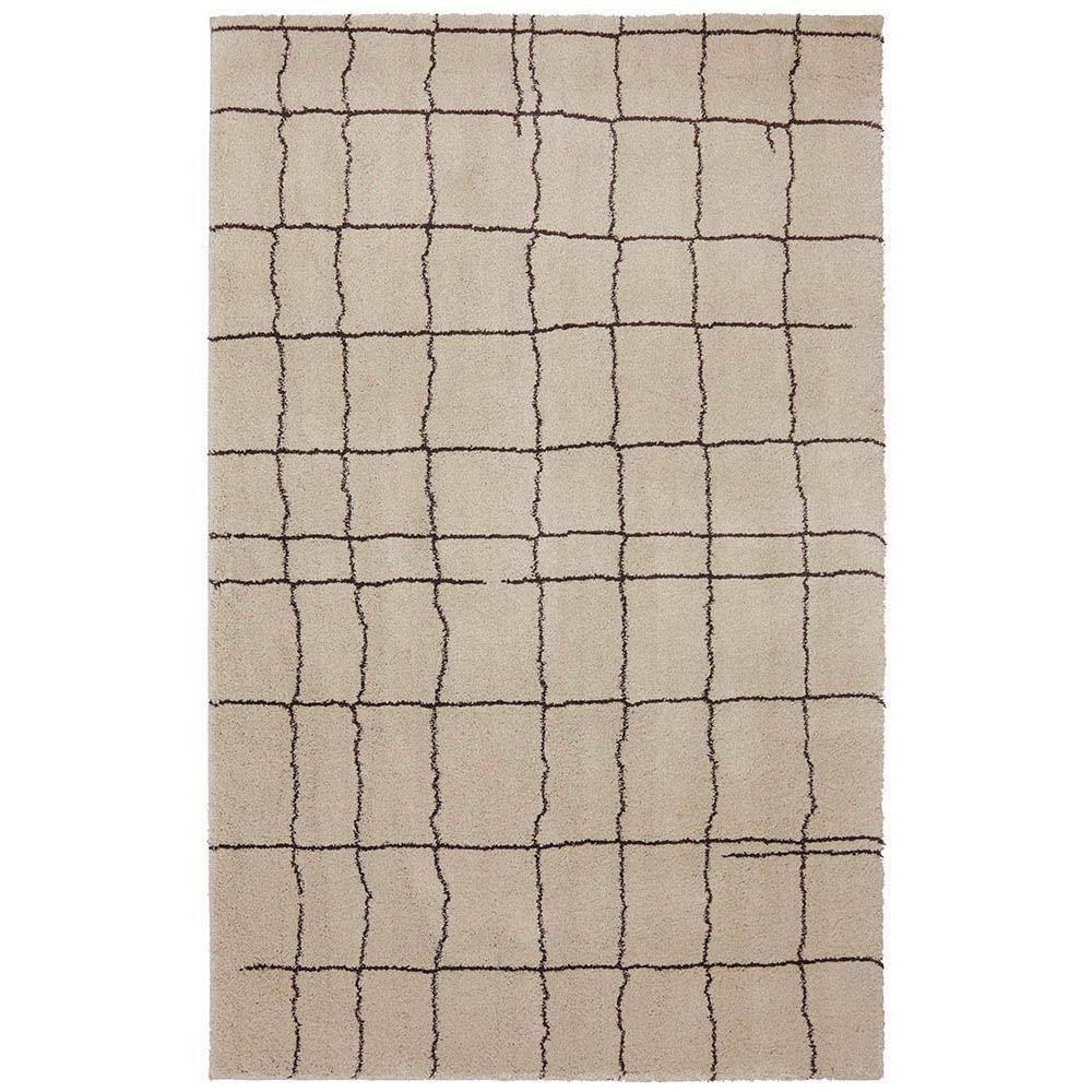 American Rug Craftsmen Grid Blocks Macadamia Nut 10 ft. x 14 ft. Area Rug