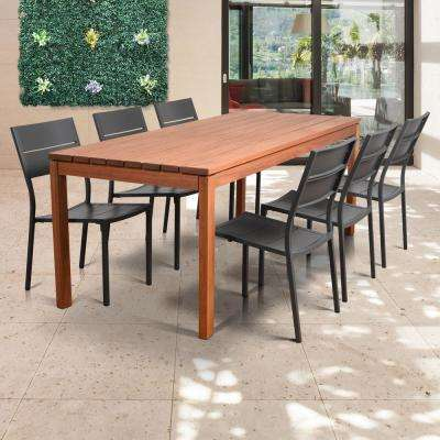 Bryant 7-Piece Wood Rectangular Outdoor Dining Set