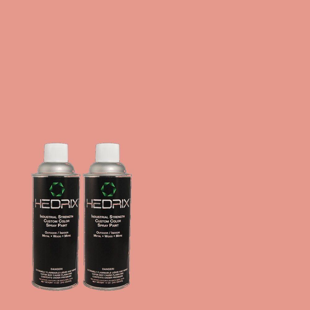 Hedrix 11 oz. Match of RAH-64 Coral Rose Low Lustre Custom Spray Paint (2-Pack)