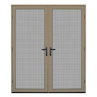 64 in. x 80 in. Desert Sand Surface Mount Meshtec Ultimate Screen Door