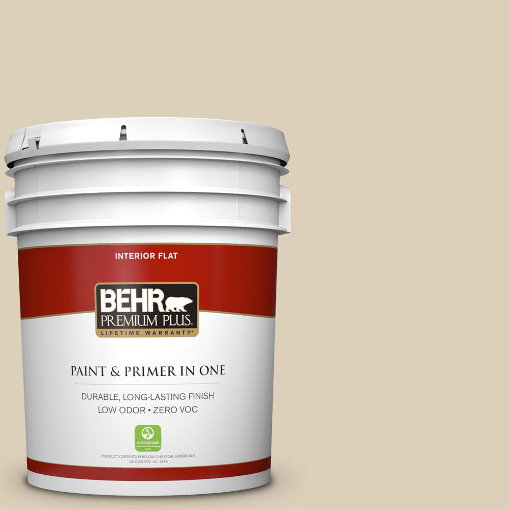 BEHR Premium Plus 5-gal. #BWC-26 Stucco Tan Flat Interior Paint