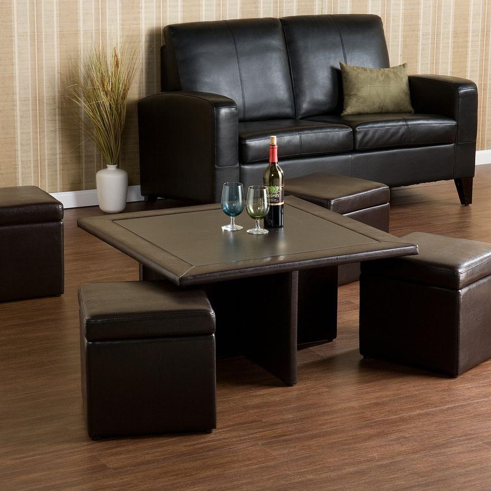 Southern Enterprises Marshall Dark Chocolate Coffee Table Hd888279