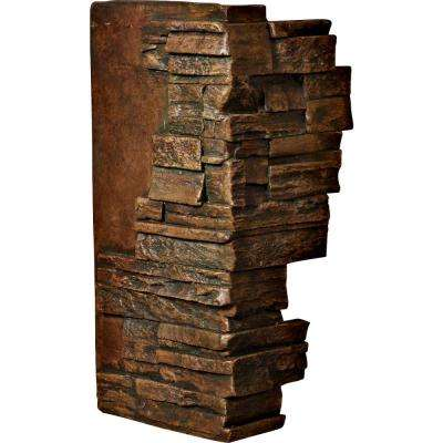 1-1/2 in. x 12 in. x 25 in. Mocha Urethane Dry Stack Stone Outer Corner Wall Panel