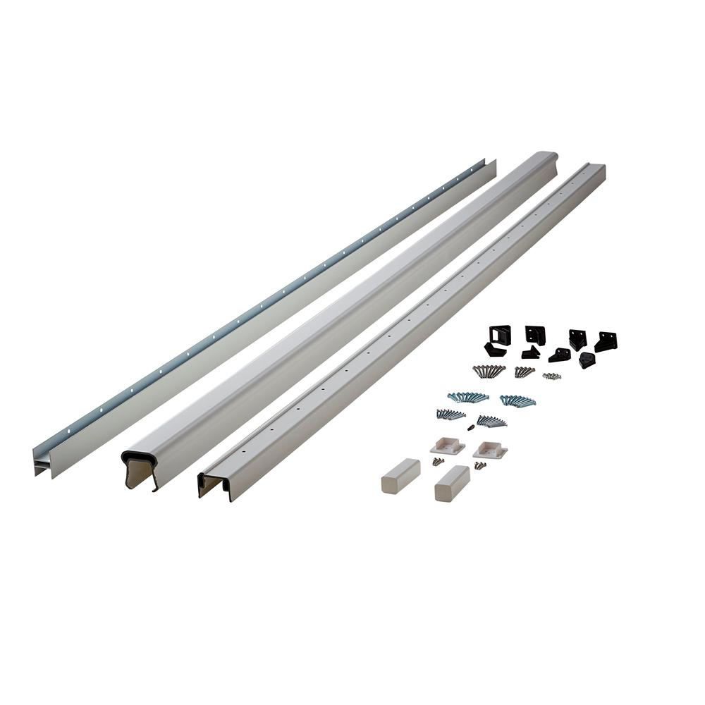 Symmetry 8 ft. Tranquil White Capped Composite Line/Stair Rail Kit