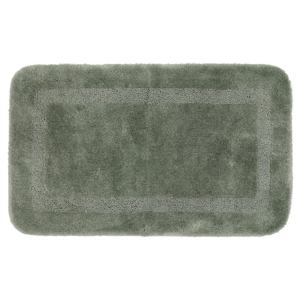 Facet Celadon 24 in. x 40 in. Nylon Bath Rug
