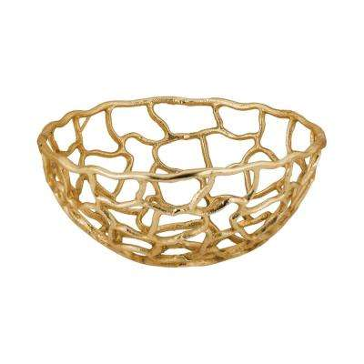 Free Form Small Decorative Bowl in Gold
