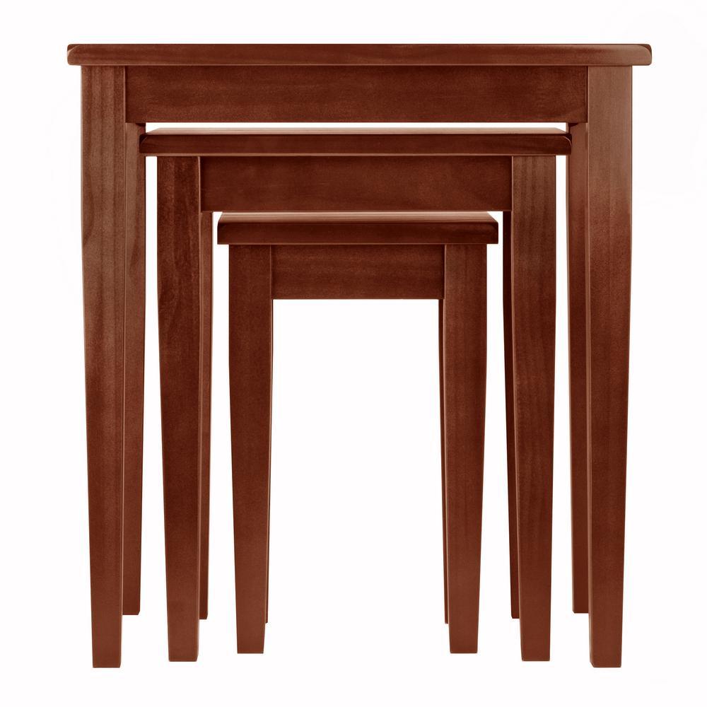 Winsome Regalia 3-Piece Nesting Table in Walnut Finish-94320 - The ...