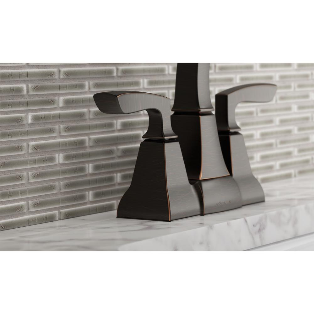 Kallan 4 in. Centerset 2-Handle Bathroom Faucet in Oil-Rubbed Bronze