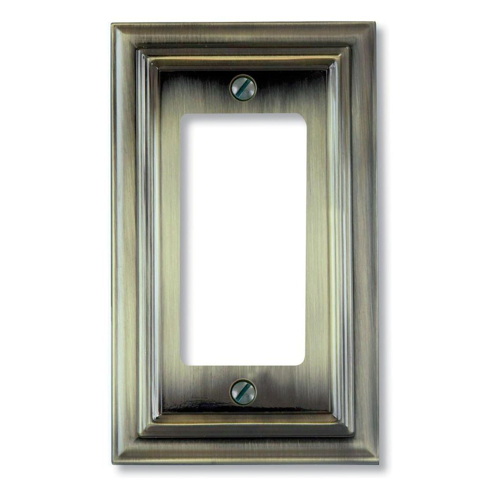 Continental 1 Decora Wall Plate - Brushed Brass