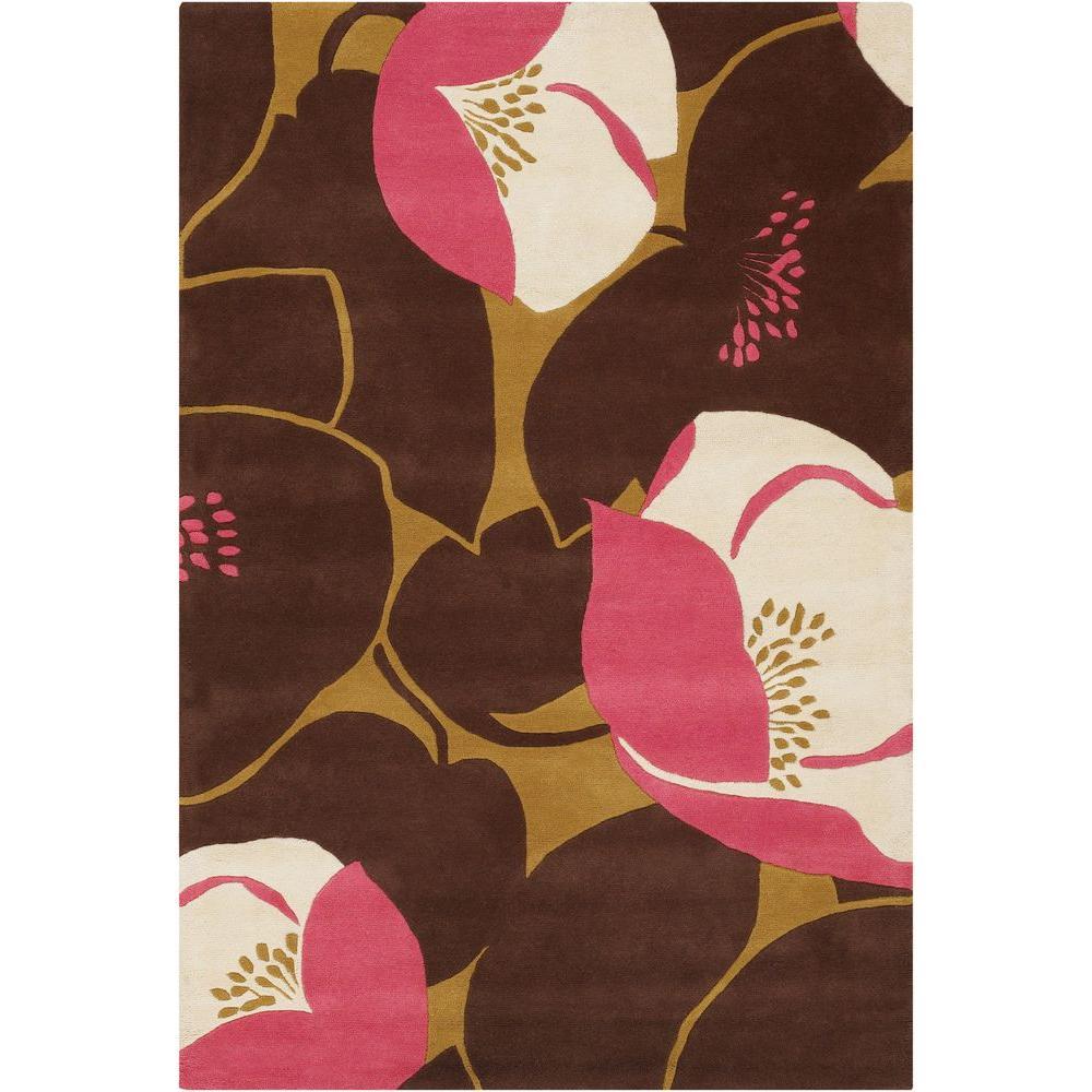 Amy Butler Pink/Brown 7 ft. 9 in. x 10 ft. 6 in. Indoor Area Rug