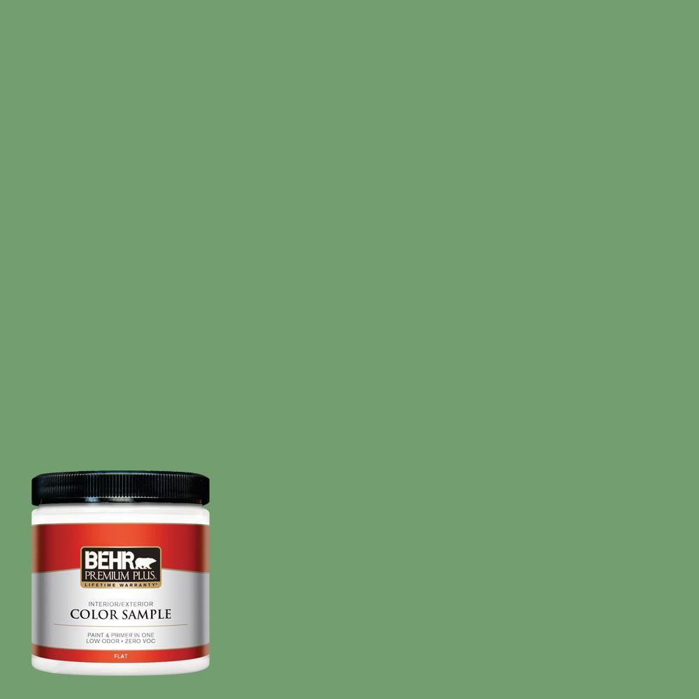 BEHR Premium Plus 8 oz. #450D-6 Shire Green Interior/Exterior Paint Sample