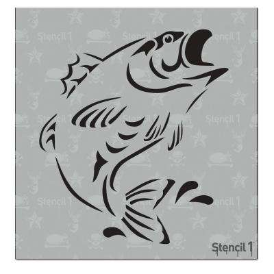 Bass Fish Small Stencil