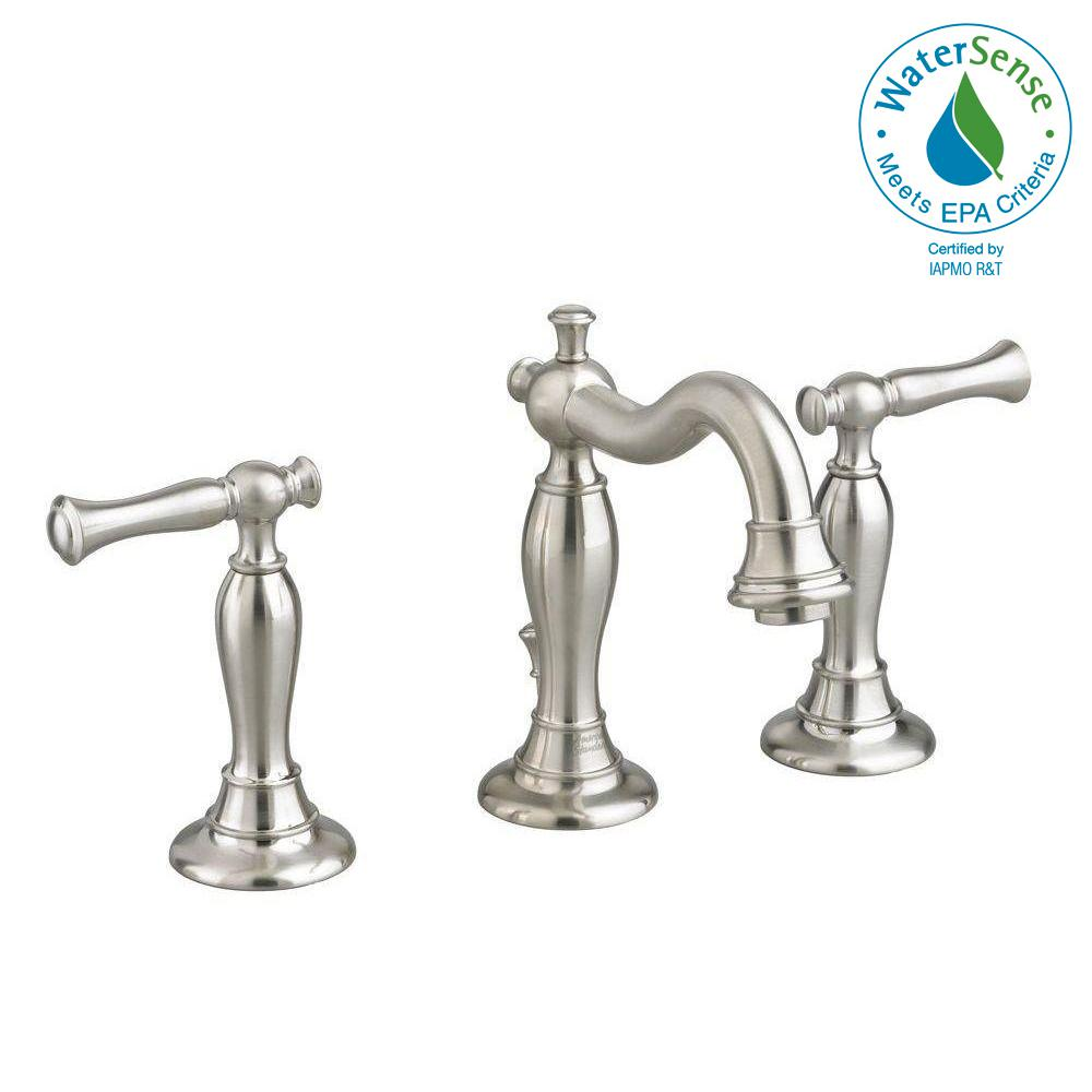 Quentin 8 in. Widespread 2-Handle Mid-Arc Bathroom Faucet in Brushed Nickel