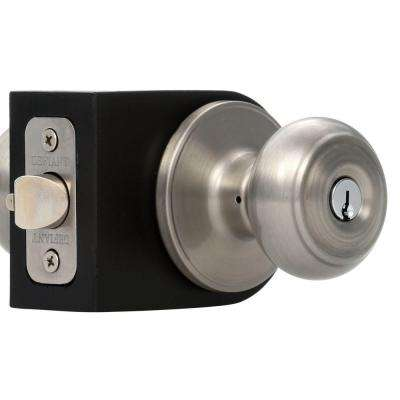 Fancy Mushroom Satin Nickel Entry Knob