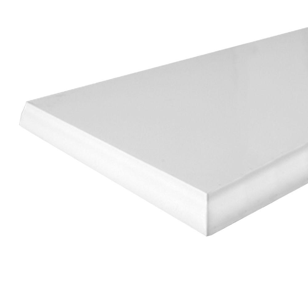 Knape & Vogt 10 in. x 24 in. White Classic Edge Decorative Shelf