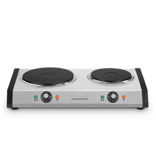 Cuisinart - 2-Burner 8 in. Cast Iron Hot Plate with Temperature Control
