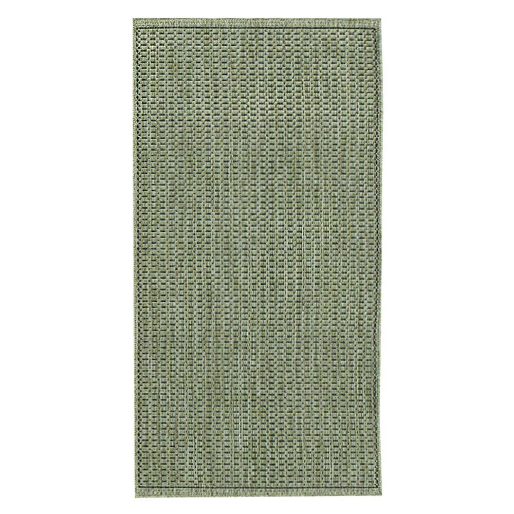 Home Decorators Collection Saddlestitch Green/Black 1 ft. 8 in. x 3 ft. 7 in. Area Rug