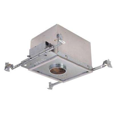 H38 3 in. Aluminum Recessed Lighting Housing for New Construction Shallow Ceiling, Insulation Contact, Air-Tite, GU10