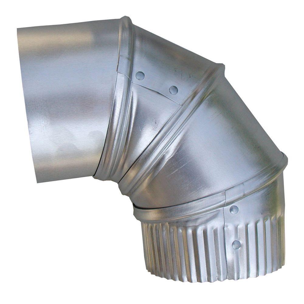 Speedi-Products 4 In. Aluminum 90 Degree Adjustable Elbow-EX-26A90 04