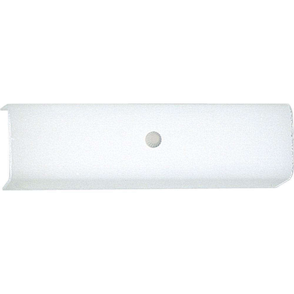 Progress lighting 2 light white vanity light p3111 30 the home depot for Bathroom light bar with electrical outlet