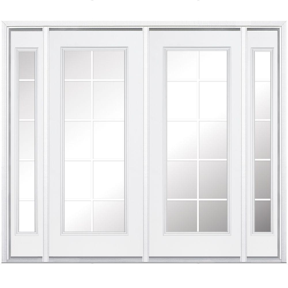 French Exterior Doors Steel: Masonite 96 In. X 80 In. Prehung Right-Hand Inswing 10